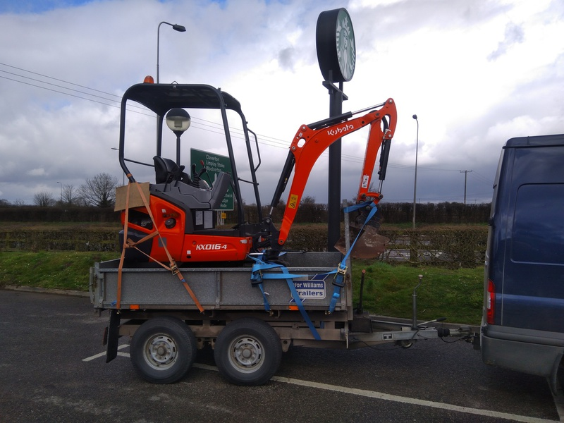 RW Abergavenny  Mini Digger & 1 Tonne Compact Dumper Plant Hire